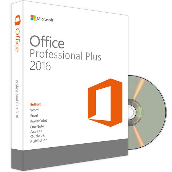OFFICE 2016 PROFESSIONAL PLUS DVD