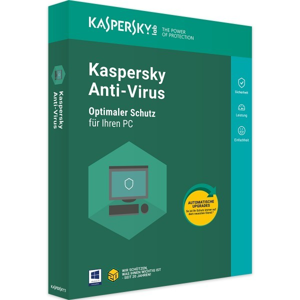KASPERSKY ANTIVIRUS 2020- 1 GETRÄT - 1 JAHR